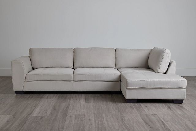 Perry Light Gray Micro Right Chaise Sectional (0)