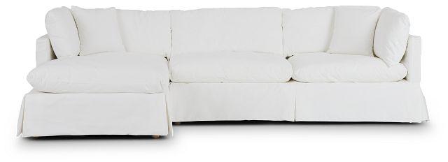 Raegan White Fabric Left Chaise Sectional (3)