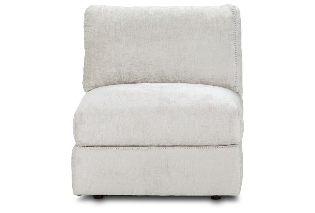 Oasis Light Beige Fabric Armless Chair