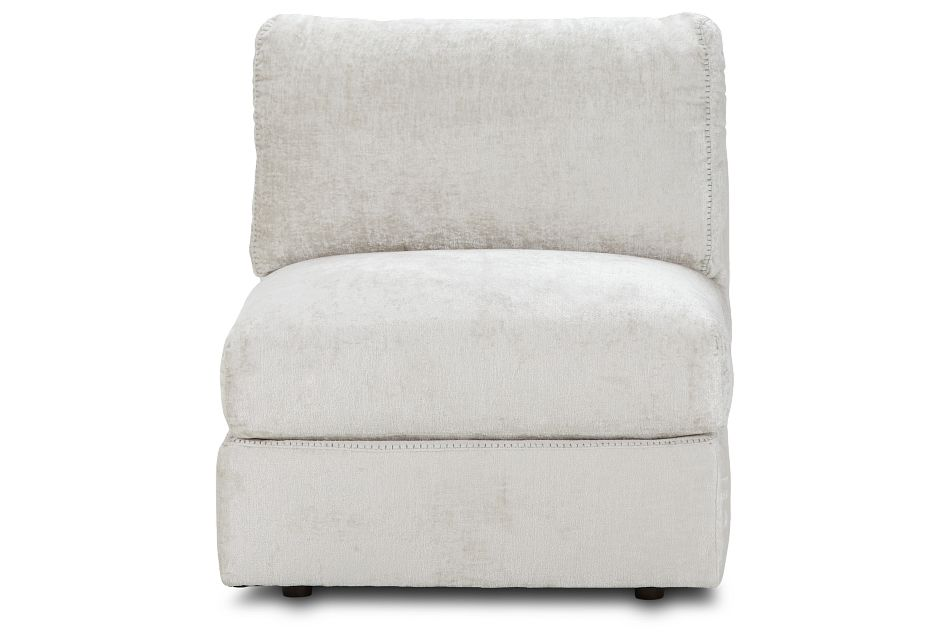 Oasis Light Beige Fabric Armless Chair, %%bed_Size%% (0)
