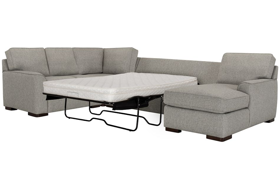 Austin Gray Fabric Right Chaise Innerspring Sleeper Sectional