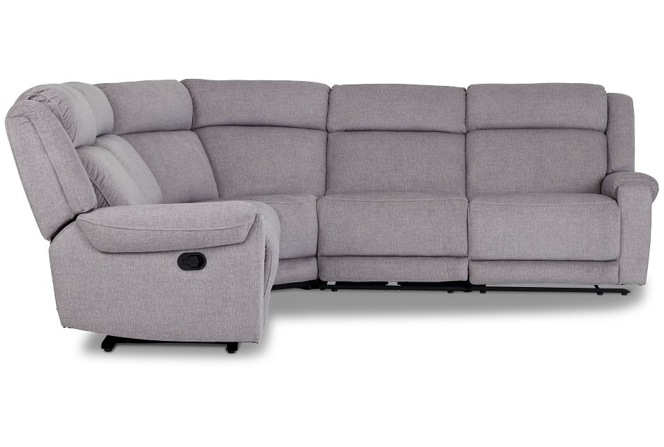 Beckett Gray Micro Small Two-Arm Manually Reclining Sectional,  (2)