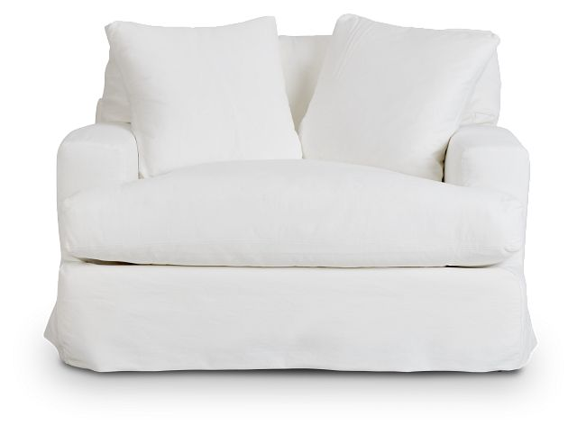 Delilah White Fabric Chair (3)