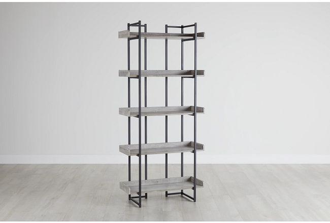 Coppell Gray Bookcase