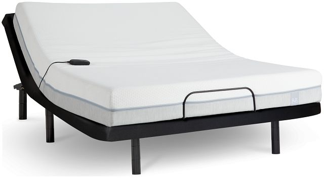 "Rest & Renew Memory Foam 8"" Bronze Adjustable Mattress Set (1)"