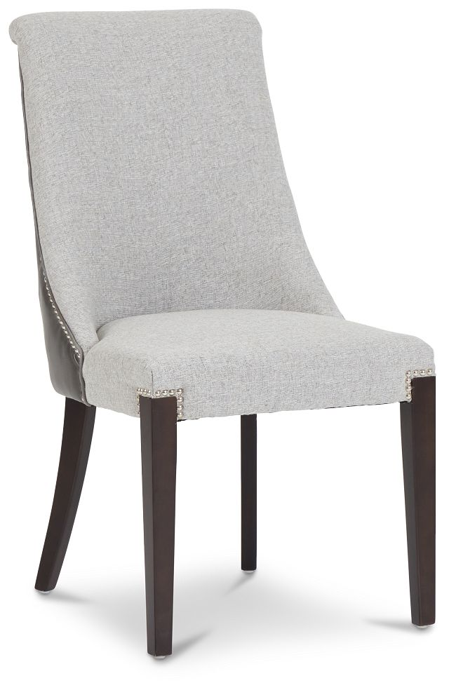 Brynn Light Gray Micro Side Chair (2)