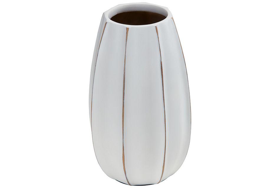 Ezra White Vase