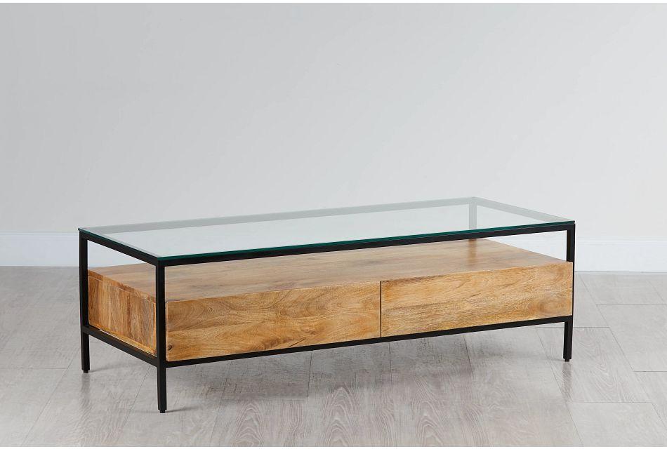 Conroy Dark Tone Glass Coffee Table