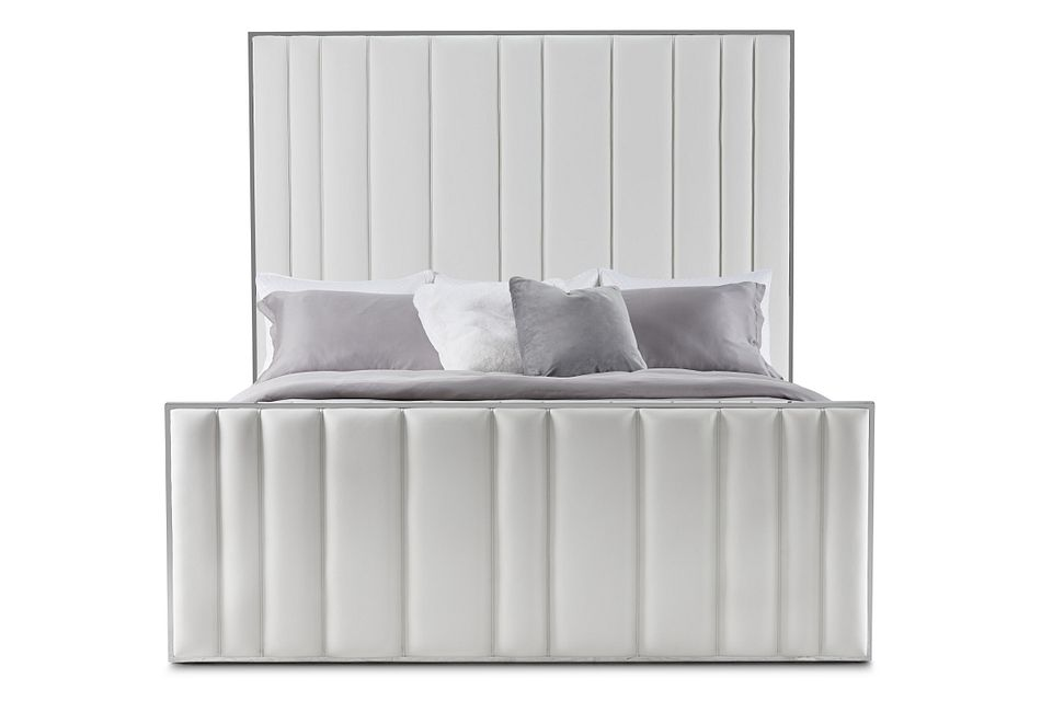 Ocean Drive White Metal Panel Bed