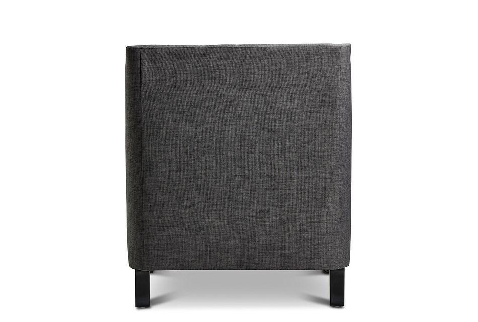 Erica Dark Gray Fabric Accent Chair