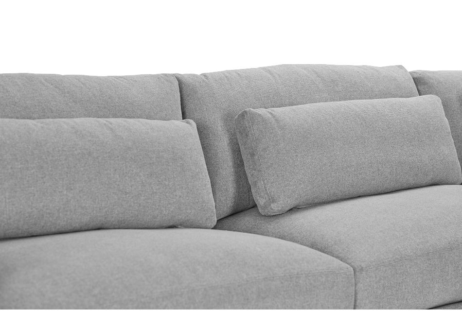 Cozumel Light Gray Fabric 7-Piece Chaise Sectional, %%bed_Size%% (3)