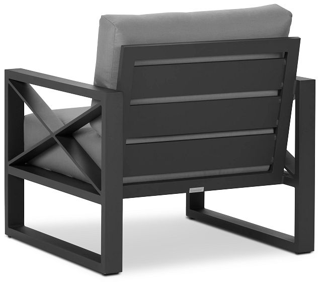 Linear Dark Gray Aluminum Chair (3)