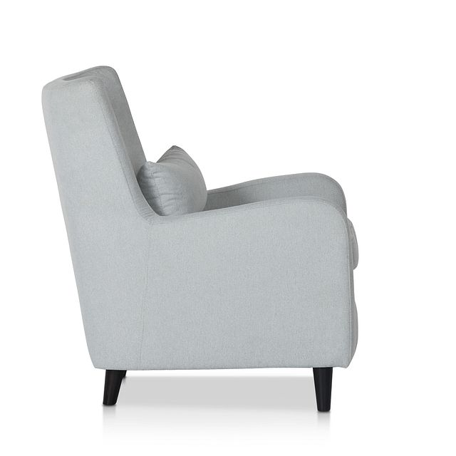Fremont Light Blue Fabric Accent Chair (2)