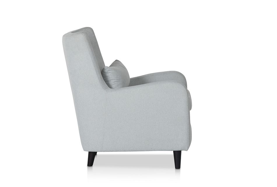 Fremont Light Blue Fabric Accent Chair