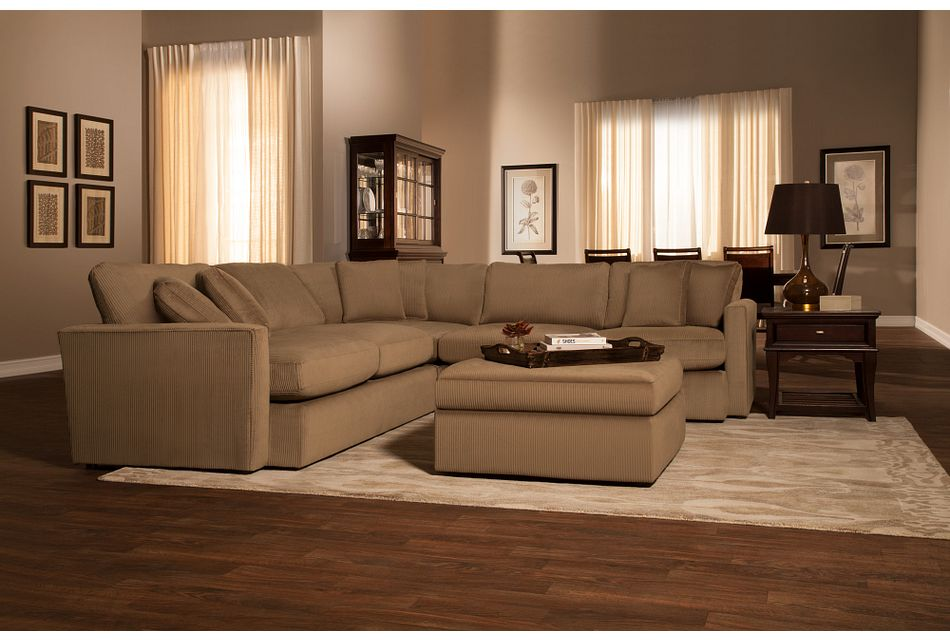 Tara2 Dark Taupe  MICRO Small Two-Arm Sectional
