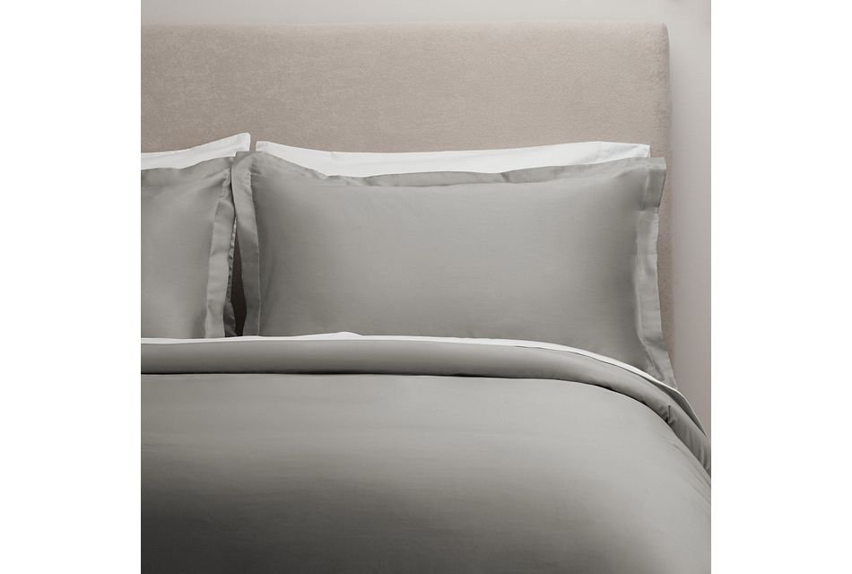 Egyptian Cotton Gray 400 Thread Duvet Set