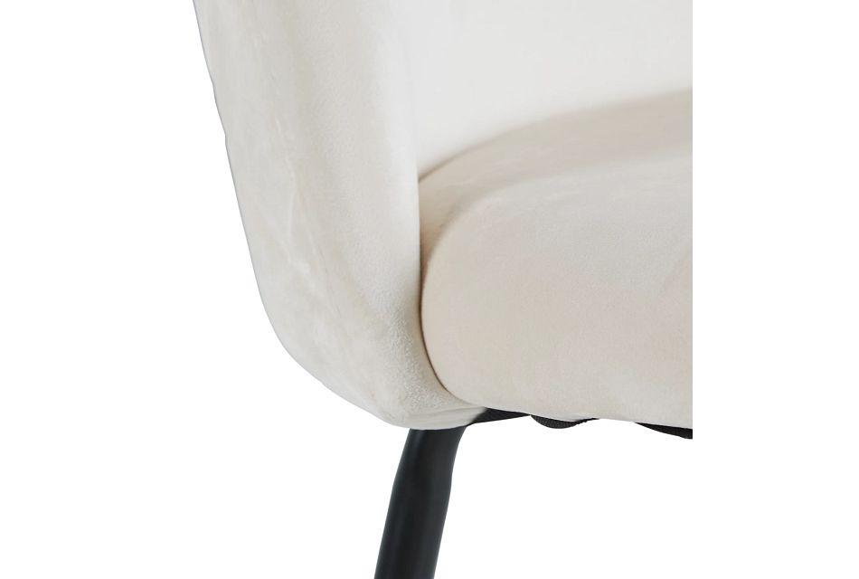 """Capri Ivory Upholstered 24"""" Barstools W/black Legs"""