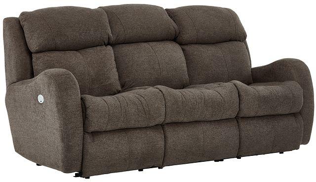 Finn Brown Fabric Power Reclining Sofa (1)
