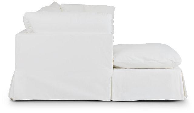 Raegan White Fabric Left Chaise Sectional (2)