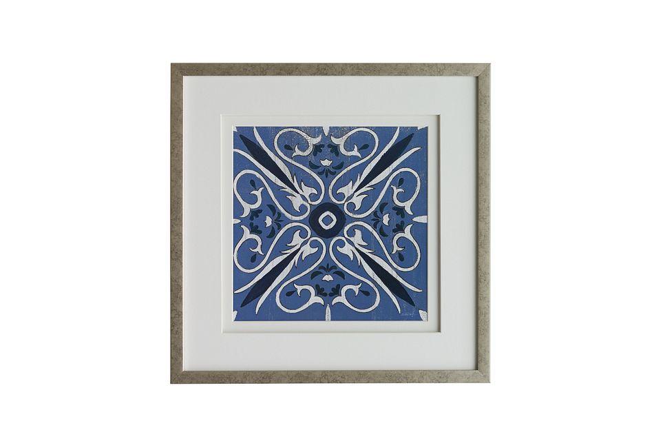Lapis Dark Blue Framed Wall Art