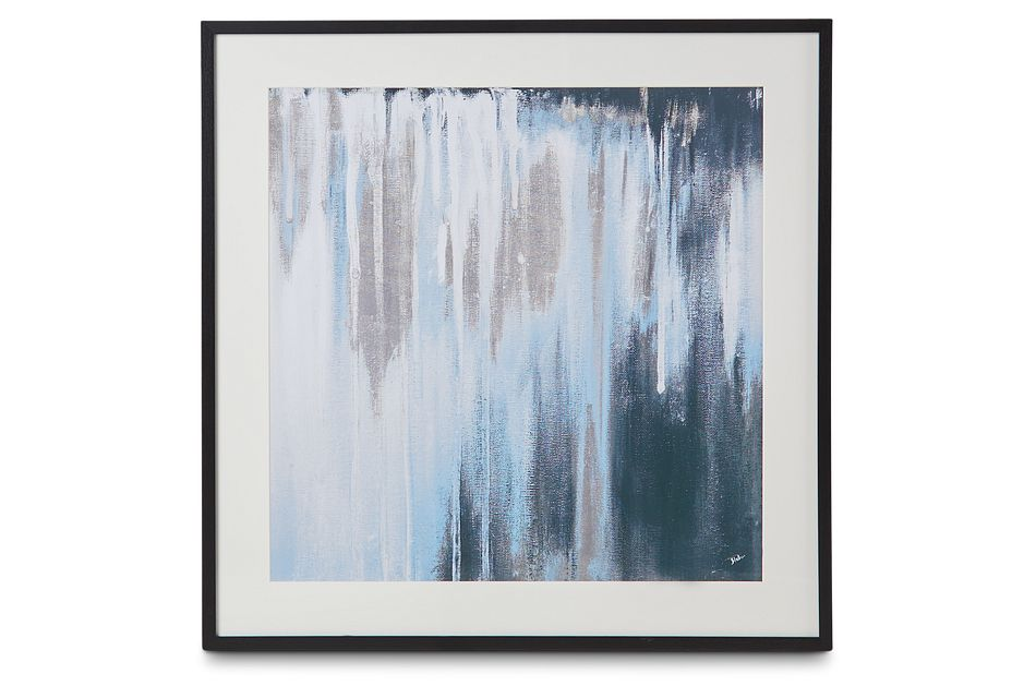 Ara Dark Blue Framed Wall Art