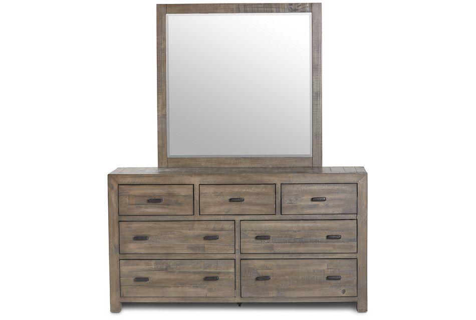 Seattle Gray Wood Dresser & Mirror