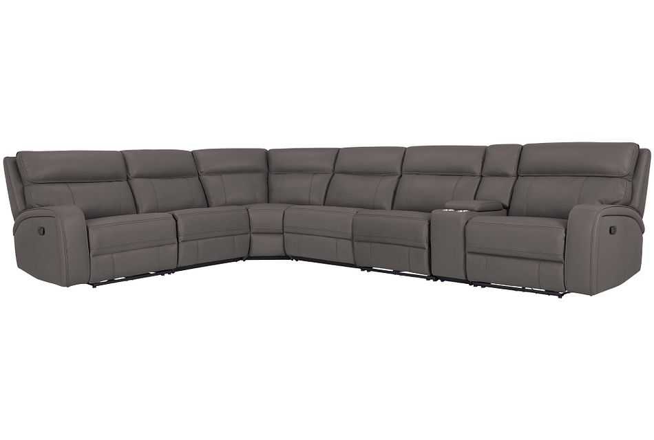 Rhett GRAY MICRO Large Two-Arm Manually Reclining Sectional