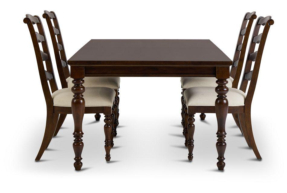 Savannah Dark Tone Rect Table & 4 Chairs,  (2)