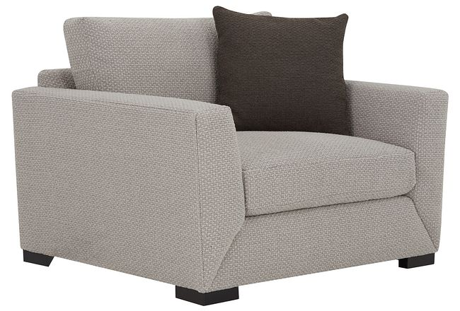 Nicolette Light Gray Fabric Chair