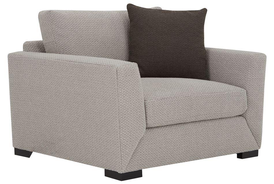 Nicolette Light Gray  Fabric Chair,  (0)