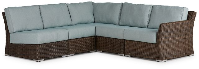 Southport Teal Right 5-piece Modular Sectional (0)