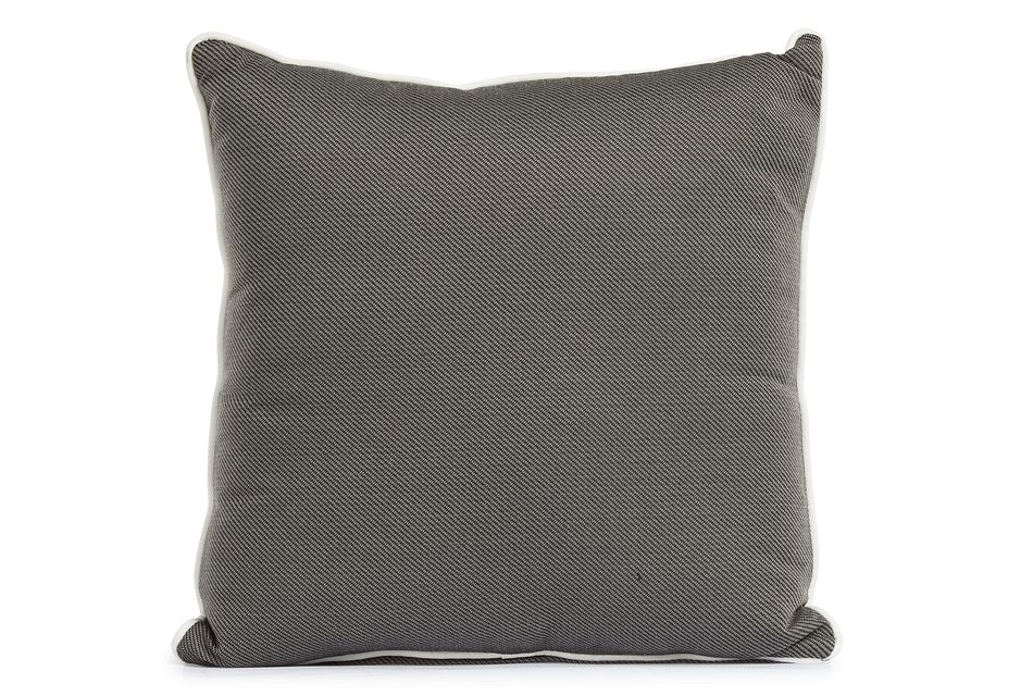 """Forest Gray 20"""" Indoor/outdoor Square Accent Pillow"""