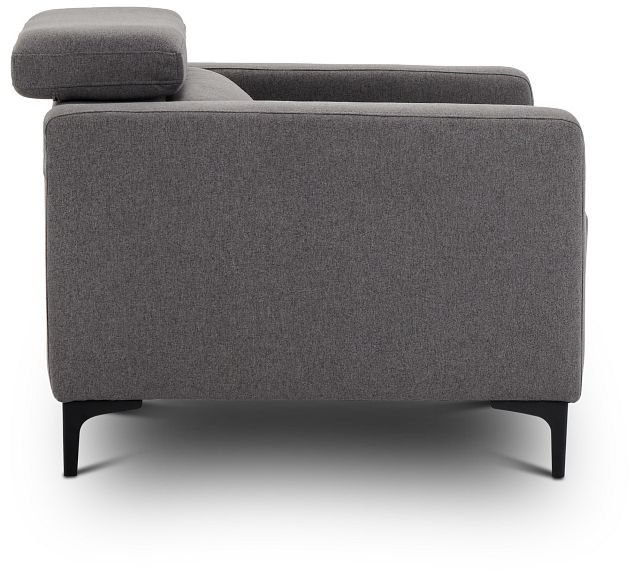 Trenton Dark Gray Fabric Chair (2)