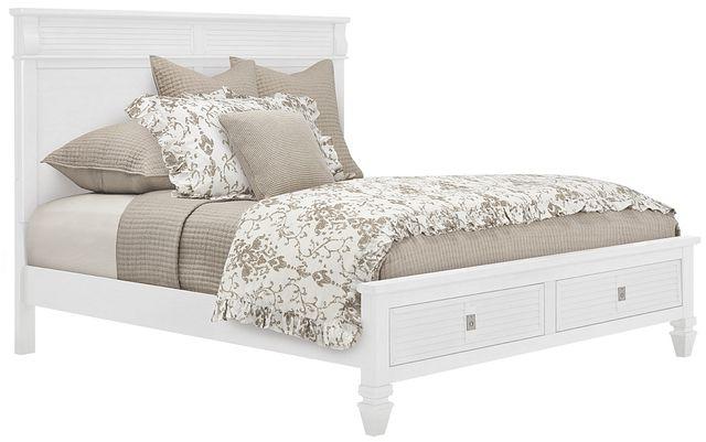 Marina White Panel Storage Bed (0)