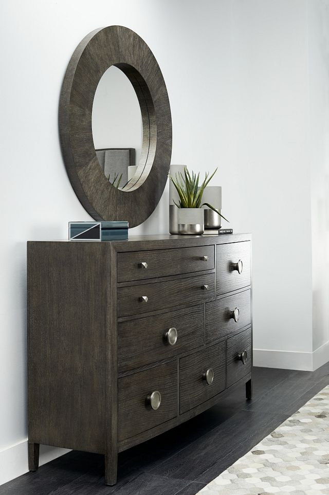 Linea Dark Tone Dresser & Mirror (1)