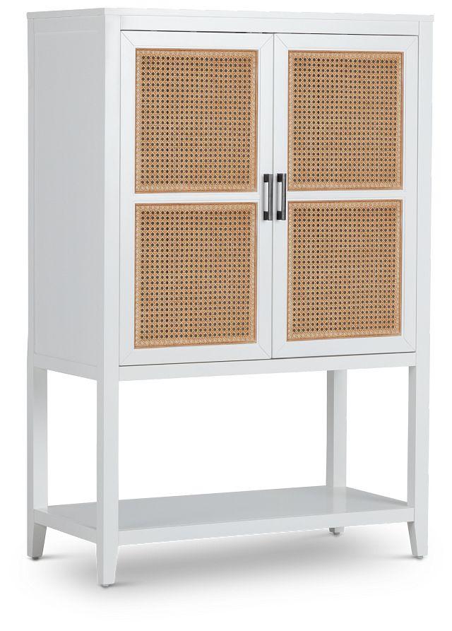 Nantucket Two-tone Woven Bar Cabinet (2)