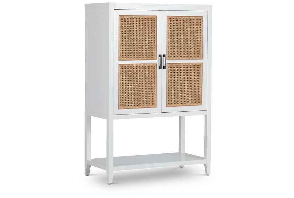 Nantucket Two-tone Woven Bar Cabinet