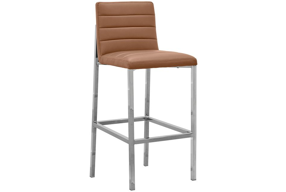 "Amalfi Brown Uph 30"" Barstool"
