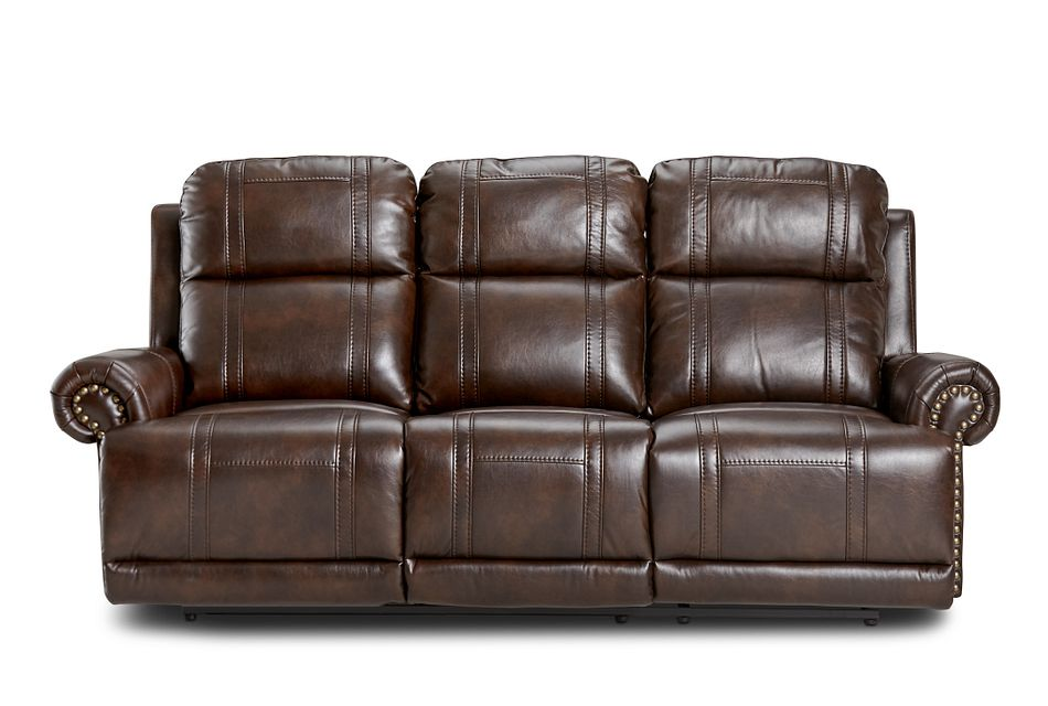 Hunter Dark Brown Micro Reclining Sofa