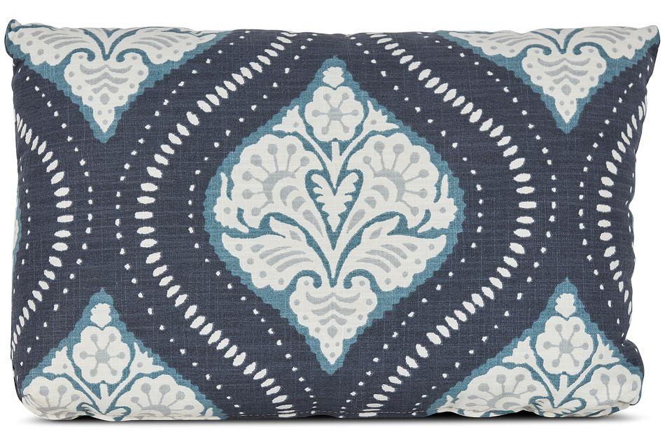 Kavali Dark Blue Lumbar Accent Pillow