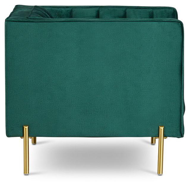 Bella Dark Green Velvet Chair (2)