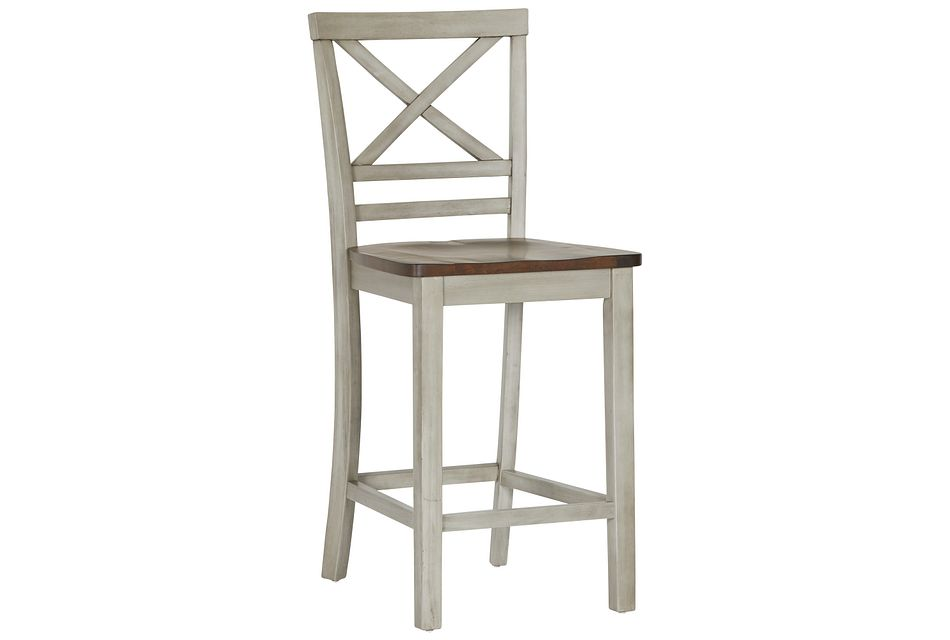 "Fairhaven Gray Wood 24"" Barstool"