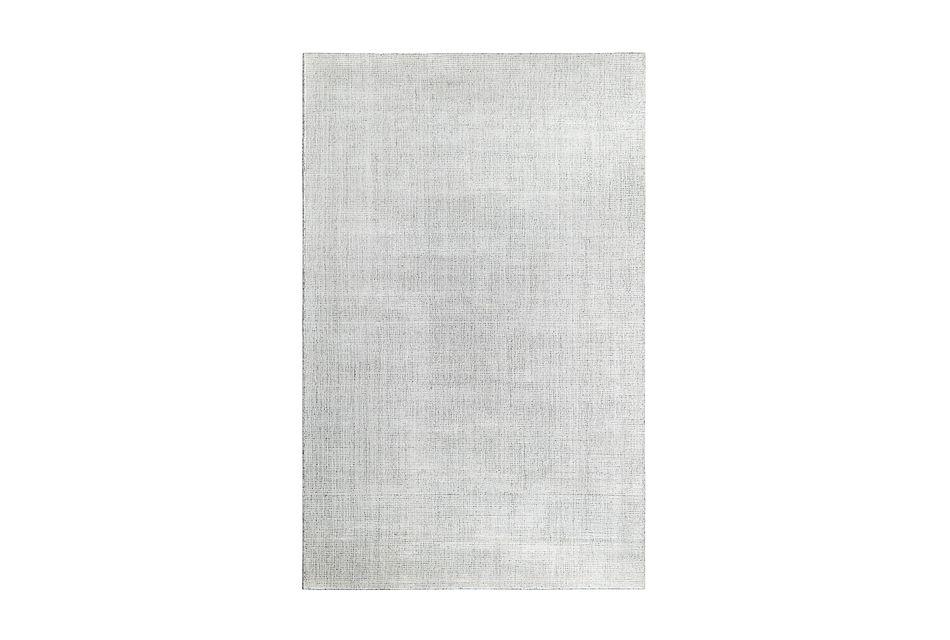 Divine Light Gray Viscose Bl 5x8 Area Rug