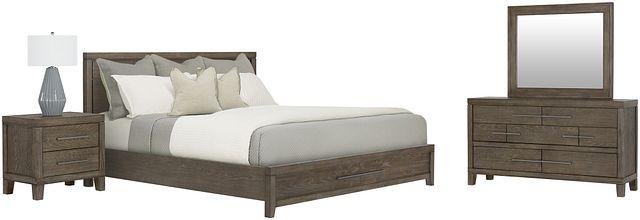 Bravo Dark Tone Wood Platform Storage Bedroom (3)