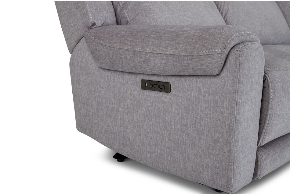 Beckett Gray Micro Small Two-arm Power Reclining Sectional