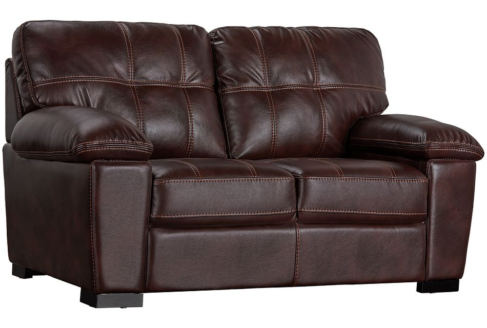 Henry Dark Brown Micro Loveseat