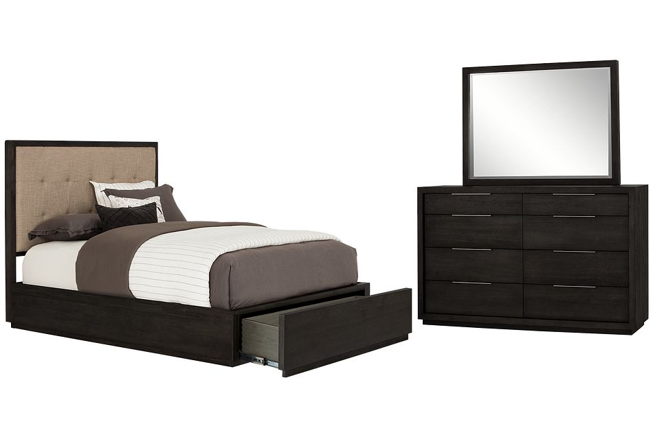 Madden Dark Tone Platform Storage Bedroom