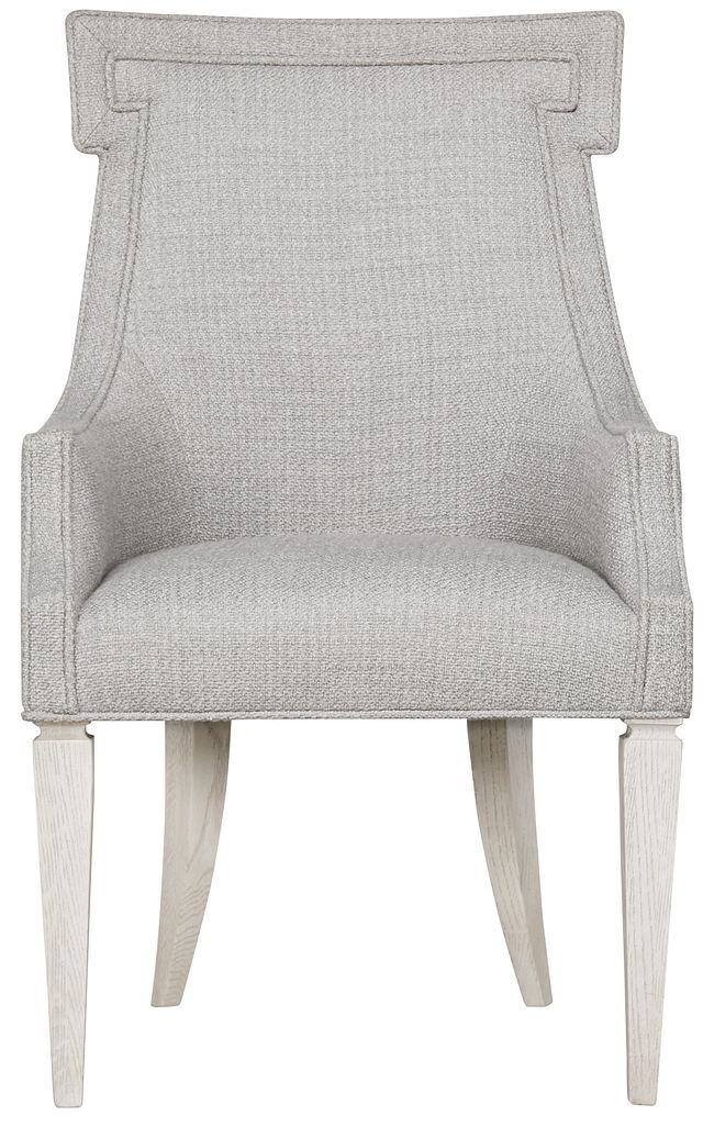 Domaine Light Taupe Upholstered Arm Chair (1)