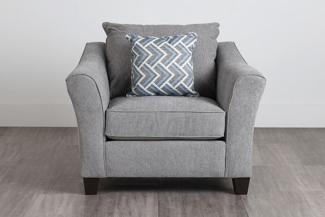 Maggie Light Gray Fabric Chair (0)
