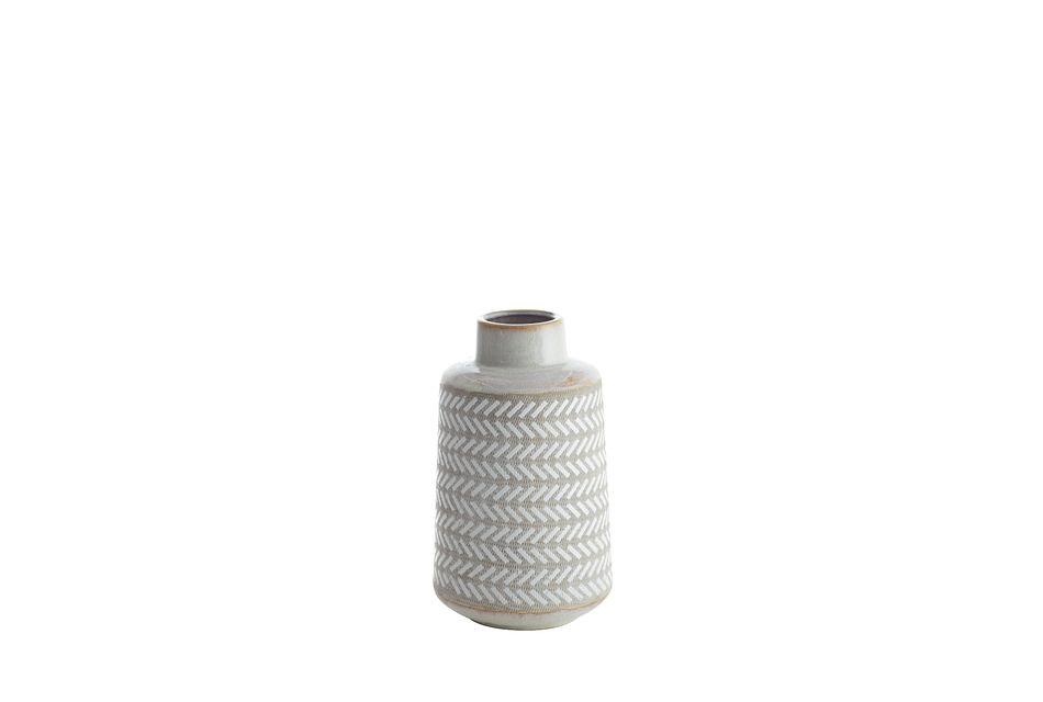 Clover White Medium Vase